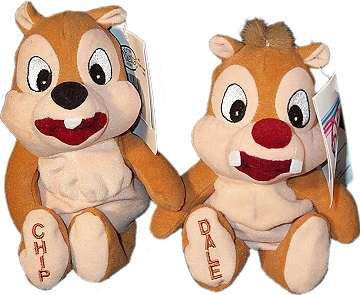 Pluche Chip and Dale